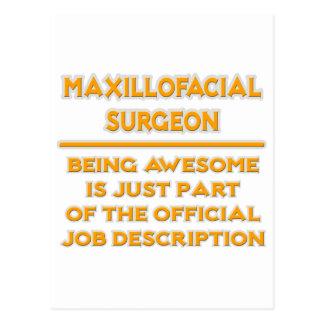 Maxillofacial Surgeon .. Job Description Postcard