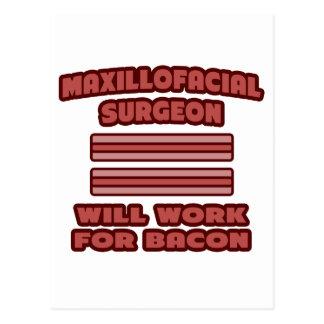 Maxillofacial Surgeon .. Will Work For Bacon Postcard