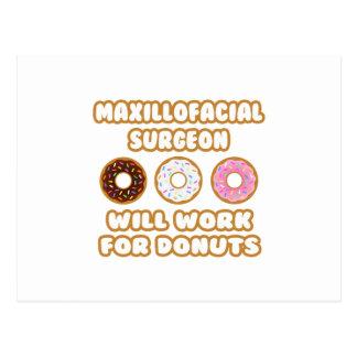 Maxillofacial Surgeon .. Will Work For Donuts Postcard