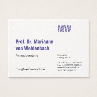Maximally elegant largely business card
