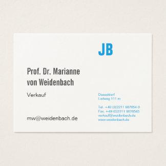 Maximally elegantly business card