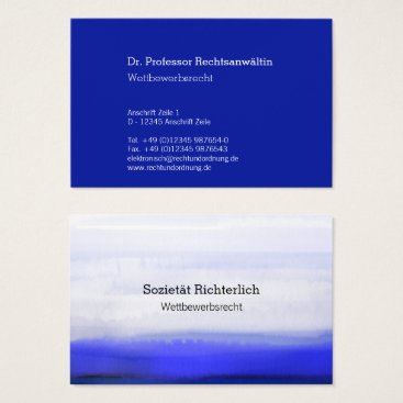 Lawyer Themed Maximally Understatement Blue Watercolors Business Card