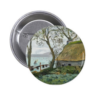 Maxime Maufra- A cottage with thatched roof Pinback Buttons
