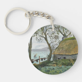 Maxime Maufra- A cottage with thatched roof Acrylic Keychain