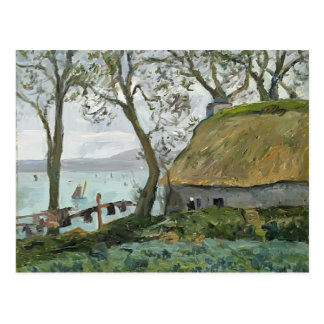 Maxime Maufra- A cottage with thatched roof Postcard