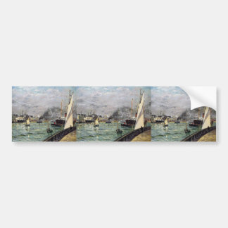 Maxime Maufra- Departure of a Cargo Ship Bumper Stickers
