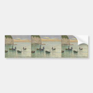 Maxime Maufra- Departure of Fishing Boats Bumper Sticker