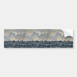 Maxime Maufra- Fishing sardine boat Bumper Sticker