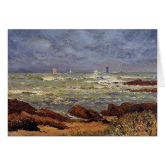 Maxime Maufra- The Barges Lighthouse Greeting Card