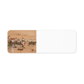 Maxime Maufra- The entrance to harbour Sauzon Custom Return Address Labels
