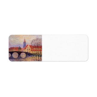 Maxime Maufra- The Leguenay Bridge Return Address Label