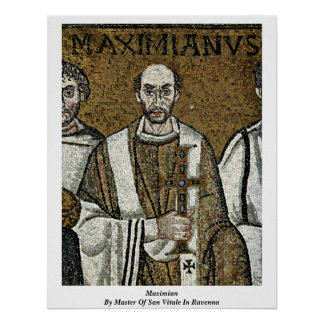 Maximian By Master Of San Vitale In Ravenna Print