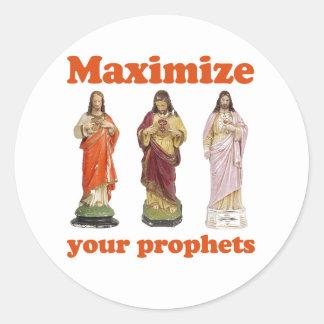 Maximice a sus profetas etiquetas redondas