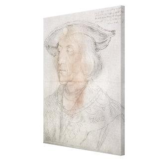 Maximilian I, Emperor of Germany , 1518-19 Gallery Wrapped Canvas