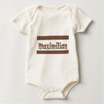 MAXIMILIAN name german fashion border LOWPRICE gif Baby Bodysuit