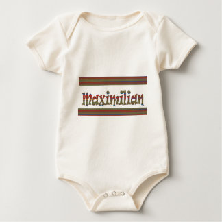MAXIMILIAN name german fashion border LOWPRICE gif Baby Bodysuit