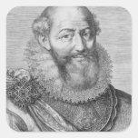 Maximiliano de Bethune, duc de Sully, 1614 Pegatina Cuadrada