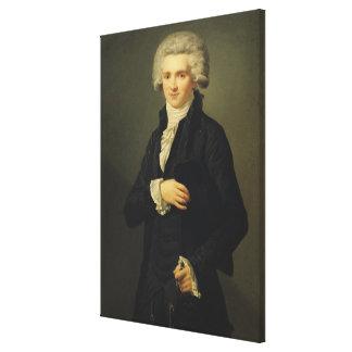 Maximiliano de Robespierre 1791 Impresión De Lienzo