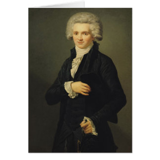 Maximiliano de Robespierre 1791 Tarjeta