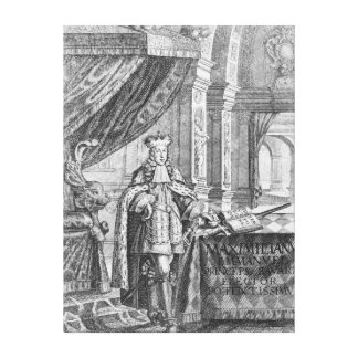 Maximiliano II Manuel, elector de Baviera Lienzo Envuelto Para Galerías