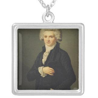 Maximilien de Robespierre  1791 Silver Plated Necklace