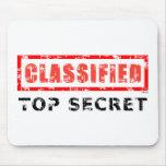 Máximo secreto clasificado alfombrilla de ratón