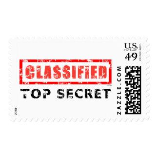 Máximo secreto clasificado sello postal