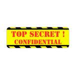 máximo secreto - confidencial etiquetas de remite