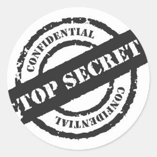Máximo secreto confidencial pegatina redonda