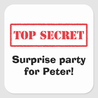 Máximo secreto. Fiesta de sorpresa para los Pegatina Cuadrada