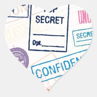 Máximo secreto - guarde hacia fuera pegatina en forma de corazón