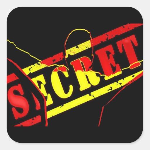 Máximo secreto pegatina cuadrada