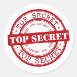 Máximo secreto pegatina redonda