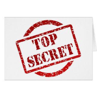 Máximo secreto tarjeta de felicitación