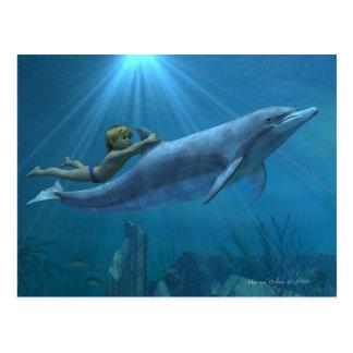 Máximo y delfín tarjetas postales