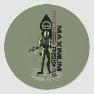 Maximum Priority Risk Classic Round Sticker