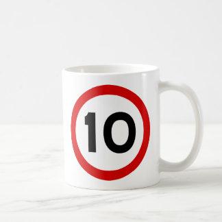 Maximum Speed Limit Funny Birthday Age 10 Ten Coffee Mug