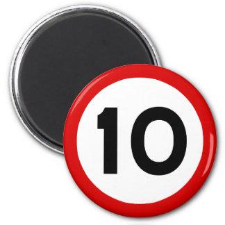 Maximum Speed Limit Funny Birthday Age 10 Ten Magnet