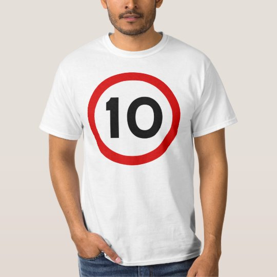 Maximum Speed Limit Funny Birthday Age 10 Ten T-Shirt