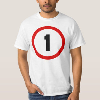 Maximum Speed Limit Funny Birthday Age 1 One T Shirt