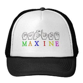 MAXINE ASL FINGERSPELLED NAME SIGN TRUCKER HAT