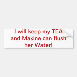 Maxine flushes car bumper sticker