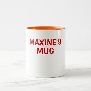 Coffee Themed MAXINE'S MUG