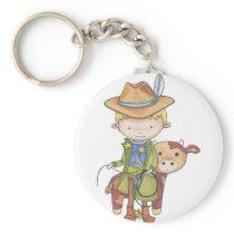 Maxou the cowboy keychain