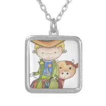 Maxou the cowboy silver plated necklace