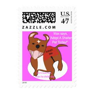 Max's Adopt A Shelter Pet Today Postage Stamp