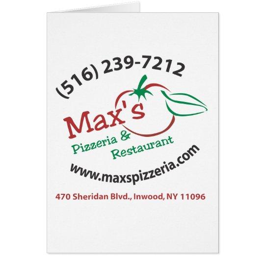 Max's Card