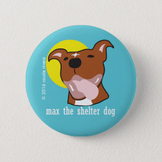 """Max's Tongue Out Happy 2 1/4"""" Button"""