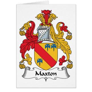 Maxton Family Crest Card