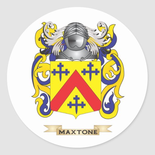 Maxtone Coat of Arms (Family Crest) Classic Round Sticker